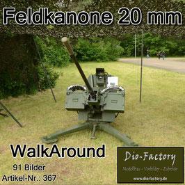 Feldkanone 20mm mit Anhänger