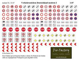 Verkehrszeichen Deutschland modern I in 1:87