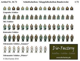 Schießscheiben / Klappfallscheiben Bundeswehr  in 1:72