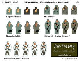 Schießscheiben / Klappfallscheiben Bundeswehr  in 1:35, 1:72  und 1:87