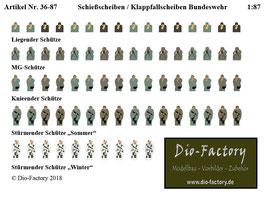 Schießscheiben / Klappfallscheiben Bundeswehr  in 1:87