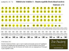 Militärische Schilder I - BRD Modern in 1:72