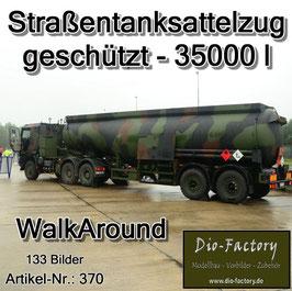 Straßentanksattelzug geschützt - 35000 ltr.