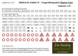 """Militärische Schilder II - Übungsplatz """"Munster Nord"""" in 1:87"""