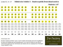 Militärische Schilder I - BRD Modern in 1:87