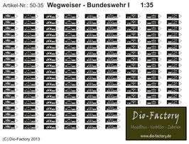 Wegweiser Bundeswehr I in 1:35