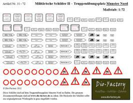 """Militärische Schilder II - Übungsplatz """"Munster Nord"""" in 1:72"""
