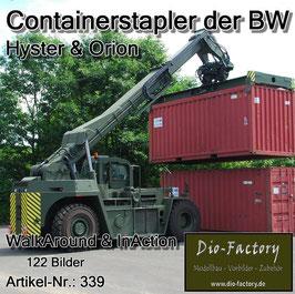 Containerstapler der Bundeswehr