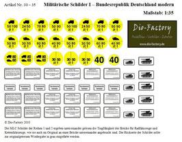 Militärische Schilder I - BRD Modern in 1:35