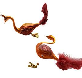Paradiesvogel gold-orange-rot, 2 Stück