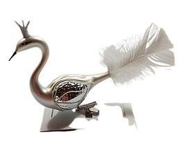 Paradiesvogel silber-weiß, letzte Stück