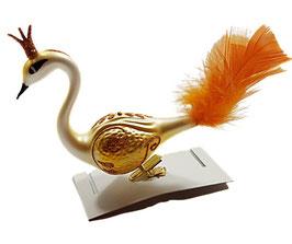 Paradiesvogel weiß-gelb-orange, 2 Stück