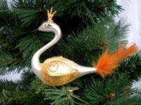 Paradiesvogel weiß-gelb, 2 Stück