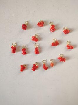 Ciondolo corallo monato oro 18 kt