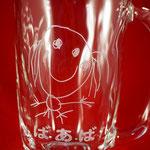 【手びねりジョッキ】 石塚ガラス製 ラッピング無料  名入れ  写真彫刻  ロゴマーク