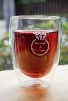 送料無料!結婚祝い ペアグラス BODUM ボダム PAVINA ダブルウォールグラス 0.35L (2個セット)  名入れ ラッピング無料