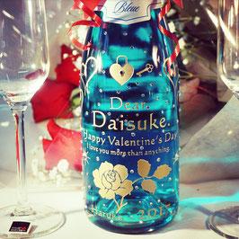 【青いシャンパン】750ml スパークリングワイン スワロフスキー付き ラッピング無料