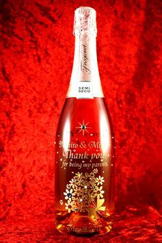 【赤いシャンパン】750ml スパークリングワイン スワロフスキー付き ラッピング無料
