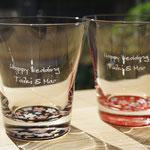 お祝いに【紀州塗り 蒔絵 桜 グラス】ペアグラス ぬりもん de Verre ギフトBOX入り 名入れ   記念品