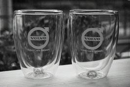 【BODUM ボダム PAVINA ダブルウォールグラス 0.35L】 (2個セット) ペアグラス 結婚祝い 記念日 還暦祝い 名入れ ラッピング無料