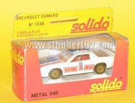 Solido Chevrolet Camaro sport avec sa boite