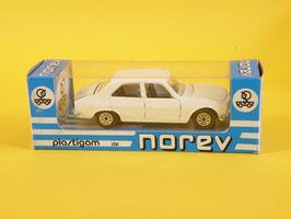 Norev Peugeot 504 berline blanche Plastigam N° 160