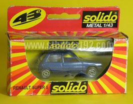Solido Renault super 5 bleu métal neuf en boite