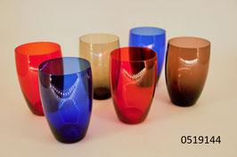 6 Wassergläser Kristall
