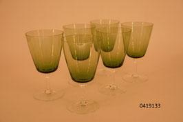 6 Weissweingläser Kristall, geschliffen