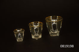 Liqueur-/Schnapsgläser in 3 verschiedenen Grössen (ganzes Set 3/4/6 v.l.n.r.)