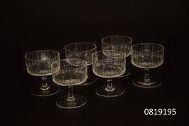 6 Schnaps-/Shotgläser Kristall geschliffen