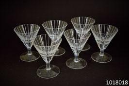 6 Gläser Kristall