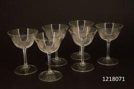 6 Schnaps-/ Liqueurgläser Kristall geschliffen