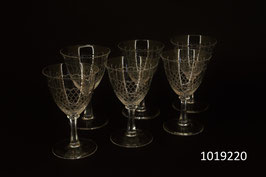 6 Weissweingläser Kristall