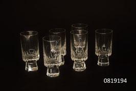6 Schnaps-/Shotgläser Kristall