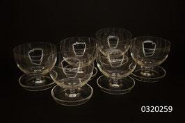 6er Set Dessertschalen Kristall (0320259)