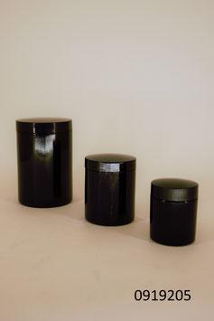 3 Glasdosen  mit Bakelitdeckel