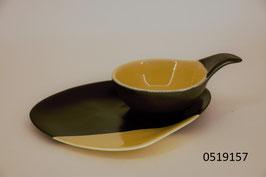6 Apéro-/Mezzeschälchen mit 5 Keramik Unterteller handmade in Israel