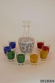 Karaffe mit 8 Gläsern