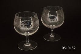 """Schweizer """"Sarnerglas"""" 10 Stück Kristall mundgeblasen und handgefertigt"""