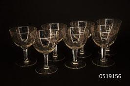 7 Weingläser Kristall geschliffen