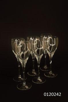 "6 Champagnergläser Kristall ""Christinenhütte"" (0120242)"