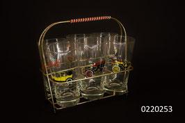 6 Trinkgläser mit Gestell (0220253)