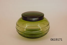Glasdose mit Bakelitdeckel