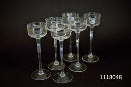 6 Liqueurgläser Art Déco Kristall