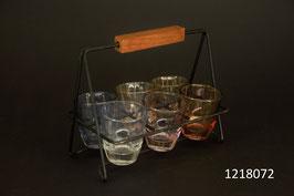 6 Schnaps- Shotgläser im Gestell