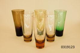 """6 Trinkgläser Kristall """"Sarner Glas"""""""
