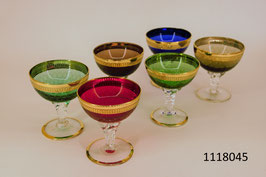 6 Liqueurgläser mit Goldrand