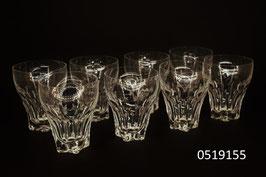 8 Wassergläser Kristall
