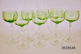 8 Weissweingläser Kristall